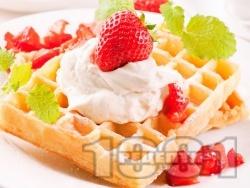 Гофрети без захар (с подсладител) - снимка на рецептата